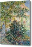 Картина Камилла Моне в саду у дома в Аржантёе