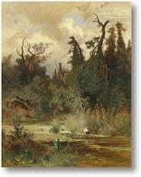 Купить картину Летом в лесистой местности