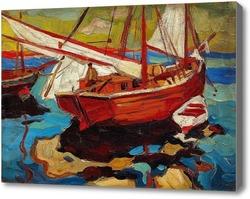 Купить картину Рыбацкие лодки в гавани