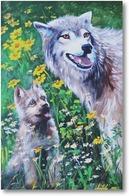 Картина Волчица с волченком