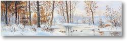 Картина Лисья охота на уток