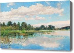 Картина Озеро пейзаж