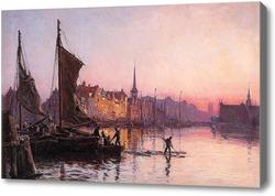 Купить картину Закат над Коппенгагеном.
