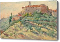 Картина Итальянский пейзаж с замком