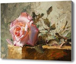 Картина Роза в лучах солнца