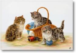 Картина Котята играют