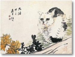 Картина Хризантема и кошка