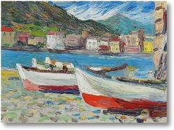 Картина Рапалло, Лодки