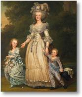 Картина Королева Мария-Антуанетта с ее детьми принцесса Мария Тереза Шар