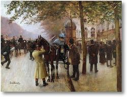 Картина Парижский бульвар
