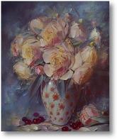 Купить картину Пионы в фарфоровой вазе