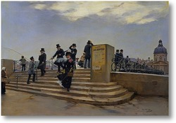 Картина Ветреный день на мосту Искусств