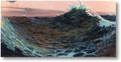 Картина Волны под красным небом
