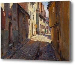 Купить картину Узкая улица в Риге