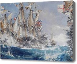 Картина Морское сражение