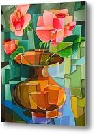 Картина Кубические Розы