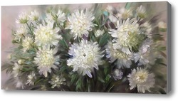 Картина Белые хризантемы