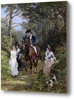 Купить картину Встреча в лесу