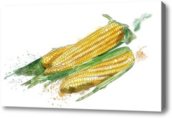 Картина Натюрморт с кукурузой