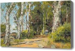 Картина Девушки в лесу