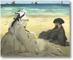 Картина На пляжу