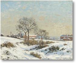 Картина Снежный пейзаж в Южной Норворд