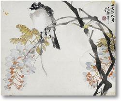 Картина Птица и глицин, 1882