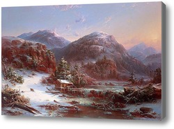 Купить картину Зима в горах (Зима в горах Адирондак), 1853