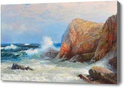 Купить картину Буйное море и скалистый берег