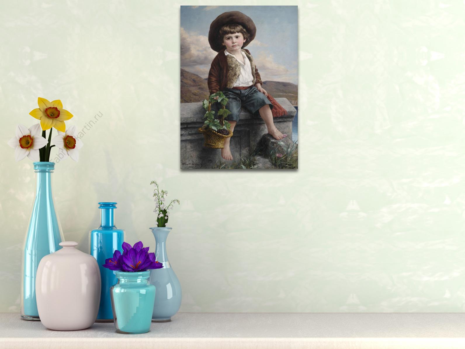 Краски мальчик с открытке 154