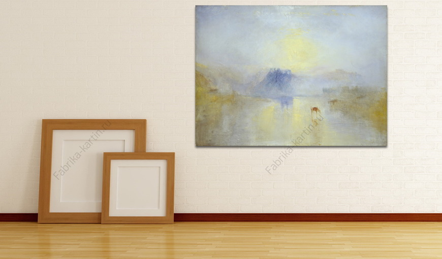 Картина Замок Норем, восход