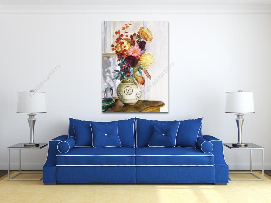 Картина Ваза с хризантемами