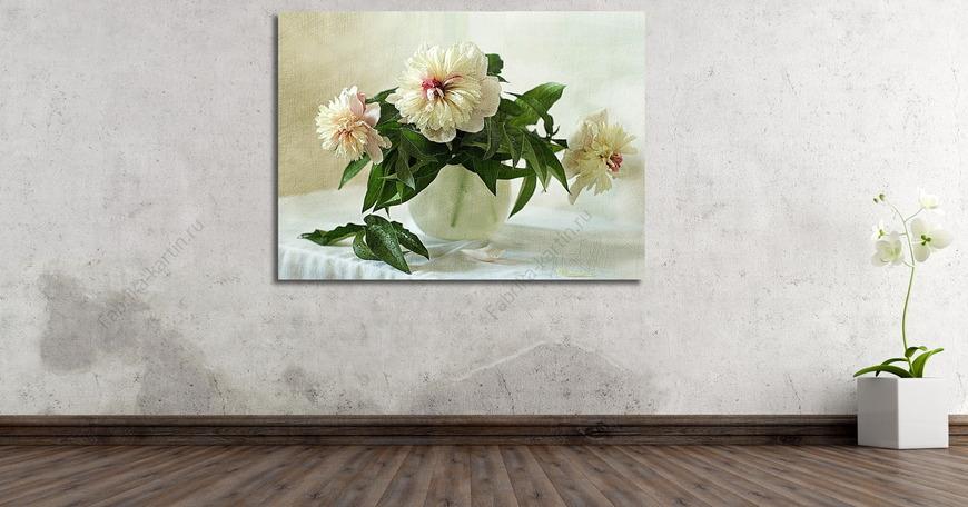 Картина Три белых пиона
