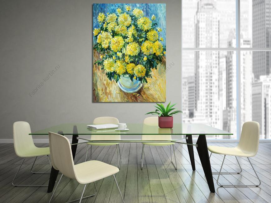 Картина Желтые хризантемки