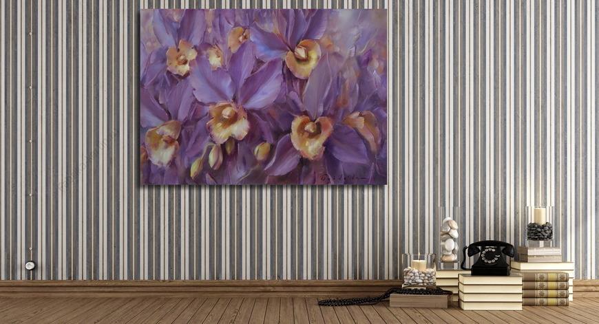 Картина Сиреневые орхидеи