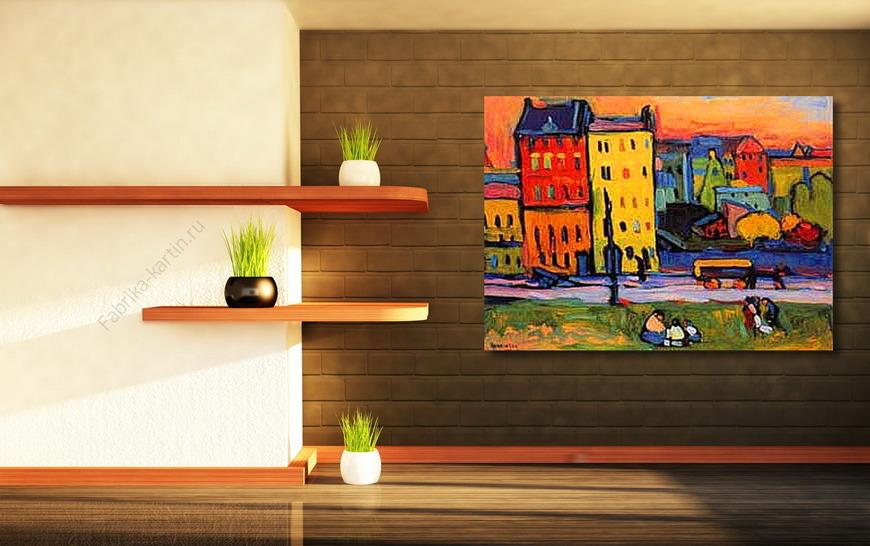 Картина В городе