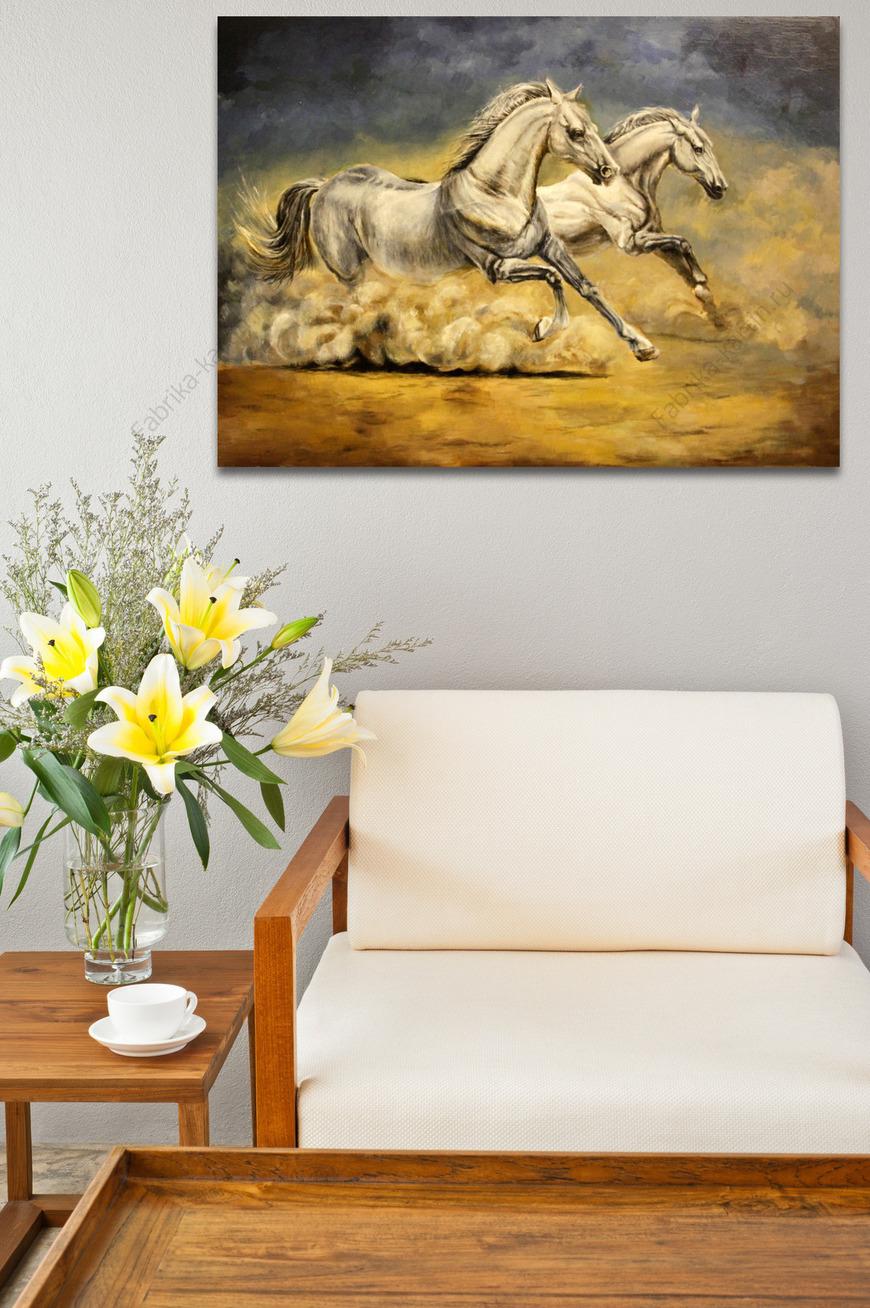 Картина Белые кони