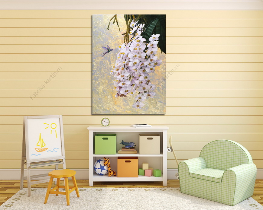 Картина Колибри и орхидеи