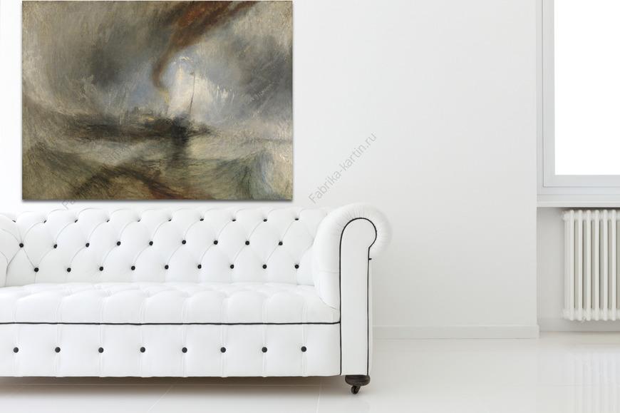 Картина Снежная буря - Пароход покинувший Харбор