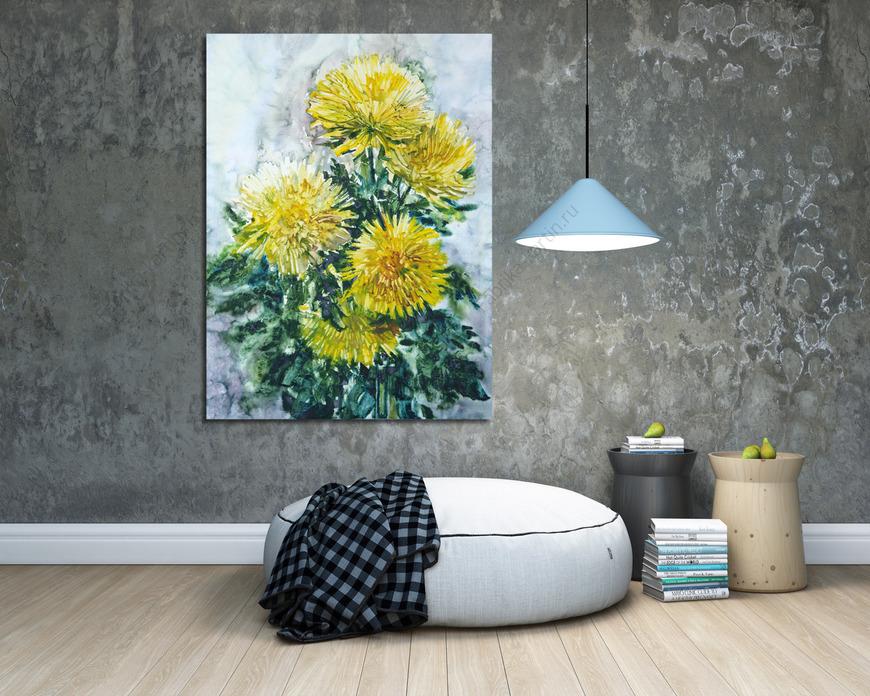 Картина Желтые хризантемы